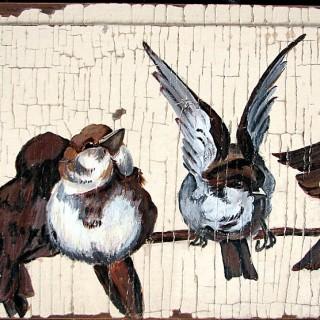 Hand Painted Bird Art – Architectural
