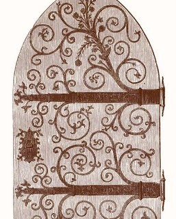 Vintage Clip Art – Gothic Door – Harry Potter-esque