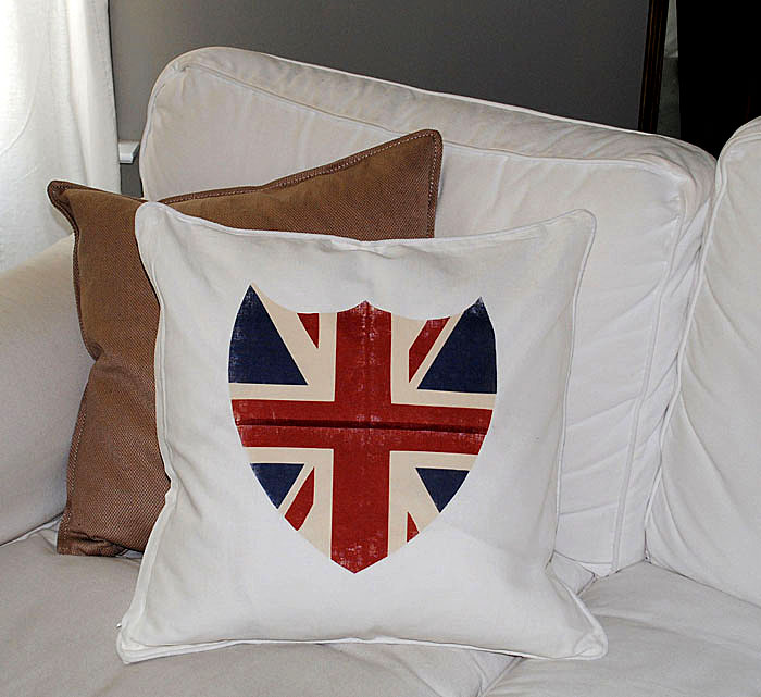 Best Iron On Transfer Paper! - Union Jack Shield Pillow and