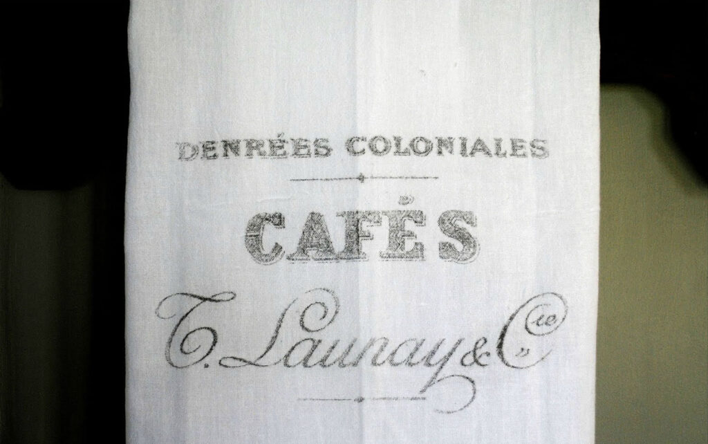 Close up of French Cafe Towel