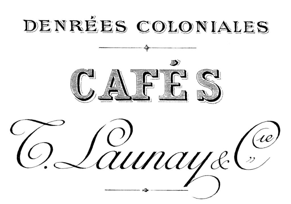 French Cafe Typography Printable