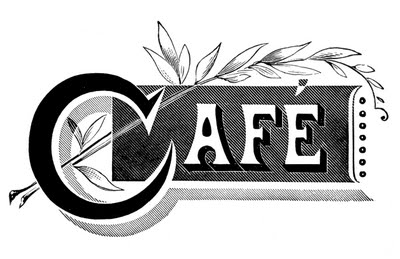 Vintage Typography - Cafe and Wine List - The Graphics Fairy