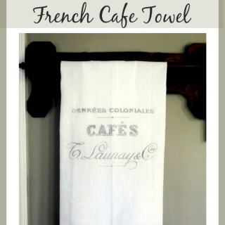 French Cafe Towel – Printable Transfer Project