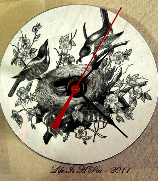 DIY CD Clock - The Graphics Fairy