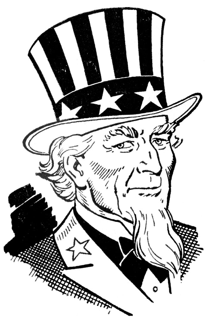 Uncle Sam Image Bust