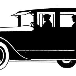 Vintage Clip Art – Transportation Silhouettes – Father's Day