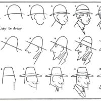 Draw a man Vintage Worksheet