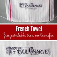french towel graphics fairy