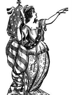 Vintage Patriotic Clip Art – Lady Liberty – 4th of July