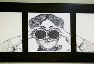 Peeping Tom Bathroom Art