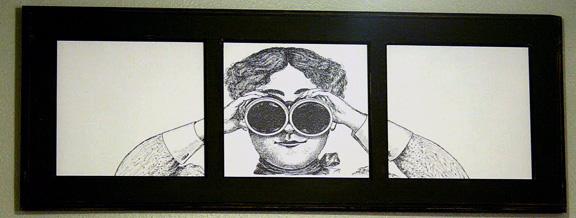 Peeping Tom Plaque
