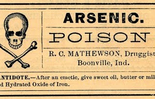 Vintage Clip Art – Old Poison Labels – Skull
