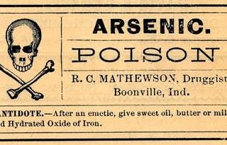 Vintage Clip Art – Old Poison Labels – Skull