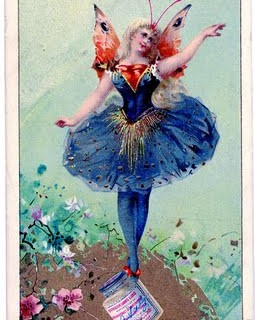 Vintage Clip Art – Dancing Fairy