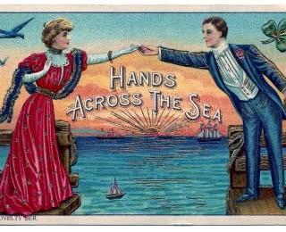 Vintage Clip Art – Couple – Ocean