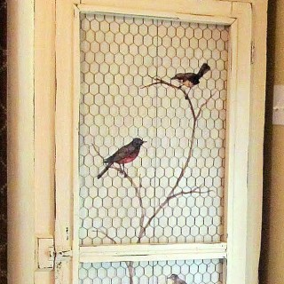 Pretty Birds on Branch – Decoupaged Furniture