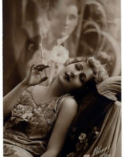 Old Photo – Smokey Lady with her Dream Man
