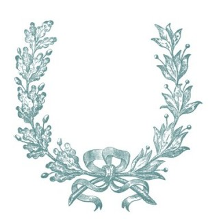 Vintage Clip Art – French Wreath Engraving