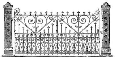 Victorian Clip Art Ornate Iron Gate The Graphics Fairy