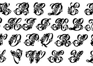 Vintage Clip Art – Beautiful Monogram Alphabet