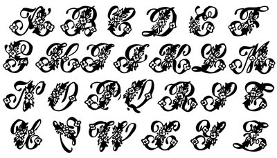 letter art font vintage clip beautiful monogram alphabet the 6670