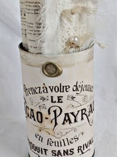 French Decorated Can