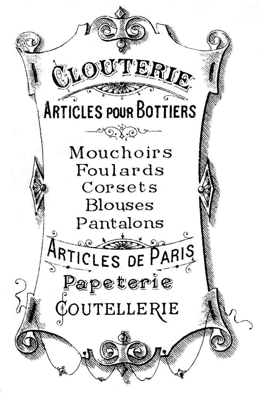 picture about Printable Sign identified as Go Printable - French Indicator - The Graphics Fairy