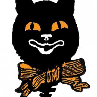 Halloween Cat Image Vintage