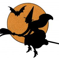 Halloween Witch Moon Vintage Image