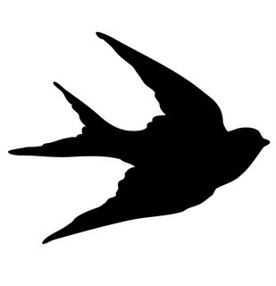 Transfer Printables – Bird Silhouettes – Swallows