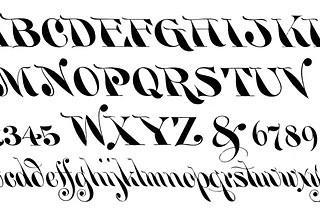 Vintage Clip Art – Typography Alphabet – Numbers