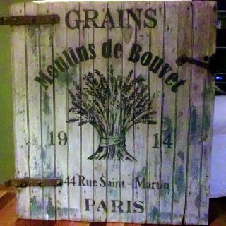 Rustic French Grains Sign
