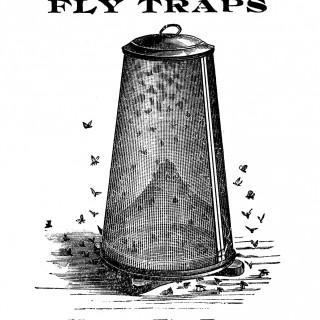 Vintage Clip Art – Fly Trap