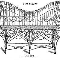 Wire Garden Furniture Vintage Image