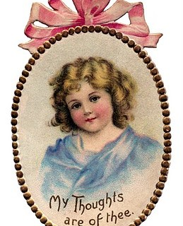 Victorian Graphic – Ribbon Frame with Child