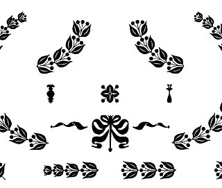 Vintage Clip Art – Cute Silhouette Frames and Doodads