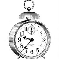 Classic Alarm Clock Vintage Image with Large Bell