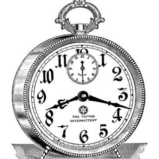 Vintage Clip Art – Fancy Alarm Clock – Steampunk