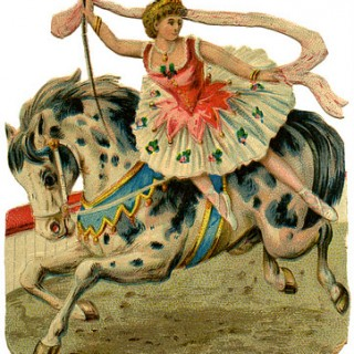 Vintage Graphic – Circus Girl on Horse