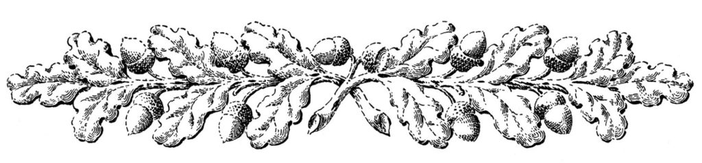 Oak Branch Ornaments
