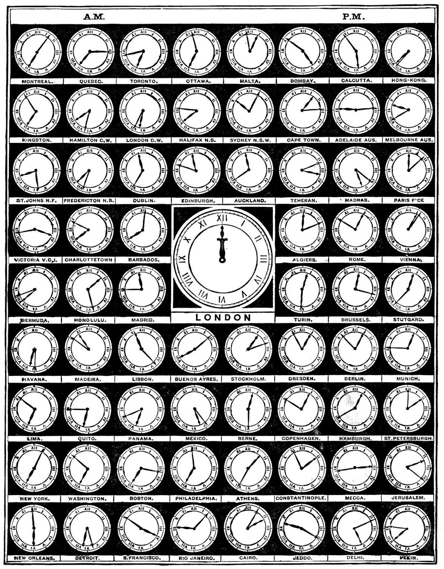 8 Clock Graphics - Vintage Alarm Clocks etc - Updated! - The