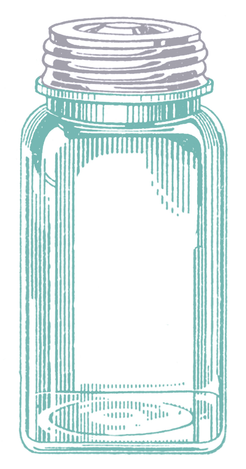Antique Ball Jars Clip Art
