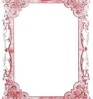 Vintage Clip Art – Romantic Frames – Christmas Colors