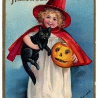 Halloween Lil Witch Vintage Image