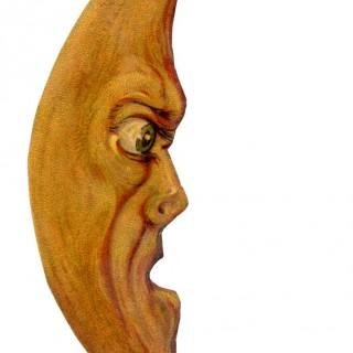Vintage Halloween Clip Art – Grouchy Moon Man