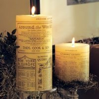 newsprint+candle+shabby+creek+cottage2