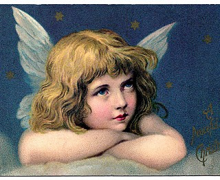 Vintage Graphic – Amazing Angel with Stars