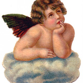 Victorian Graphic – Lovely Cherub Angel