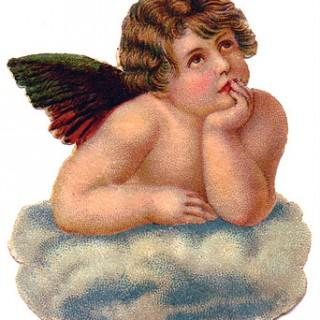 Victorian Graphic – Lovely Cherub Angel