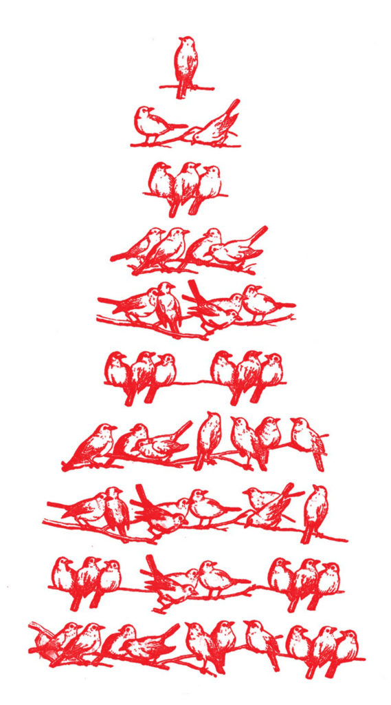Christmas Bird tree Clipart Images